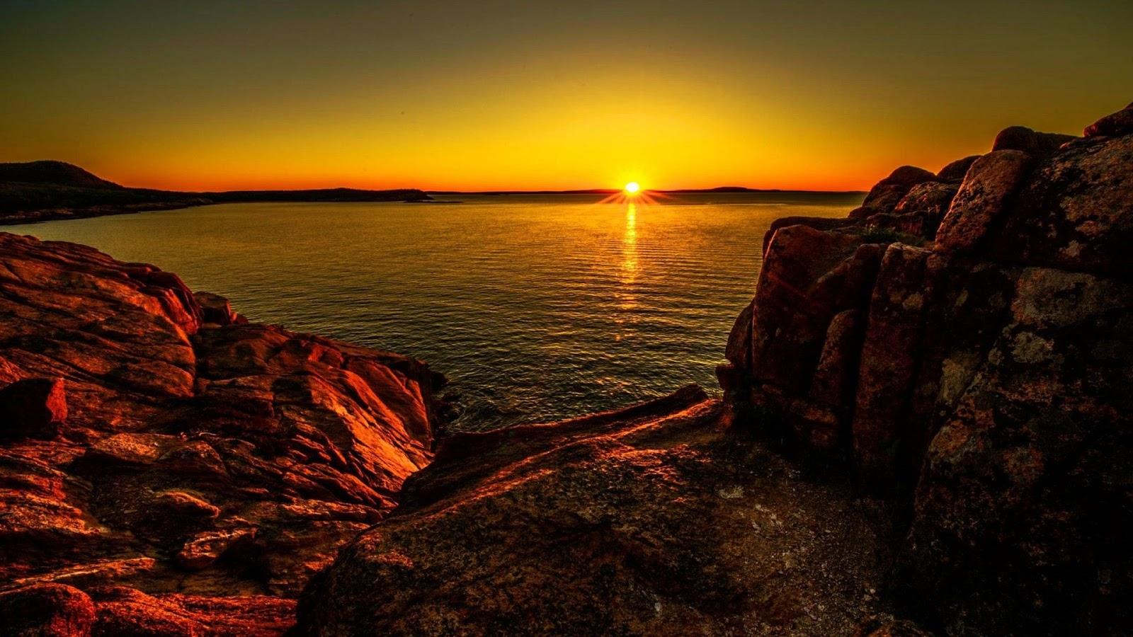 Sunset At Acadia National Park Desktop Backgrounds wallpaper