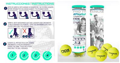 NOX lanza al mercado el primer formato de bolas de pádel pensado para evitar contagios por Coronavirus.