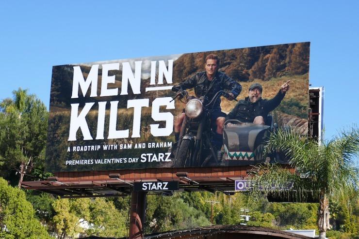 Men in Kilts series launch billboard