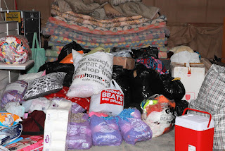 Bedding and clothes for Knysna fires victims