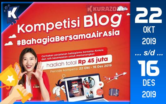 Kompetisi Blog - AirAsia Berhadiah Total Uang Tunai 45 Juta Rupiah