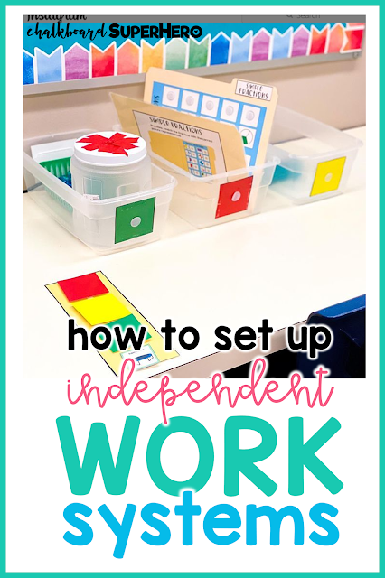 how to set up independent work systems in the special education classroom