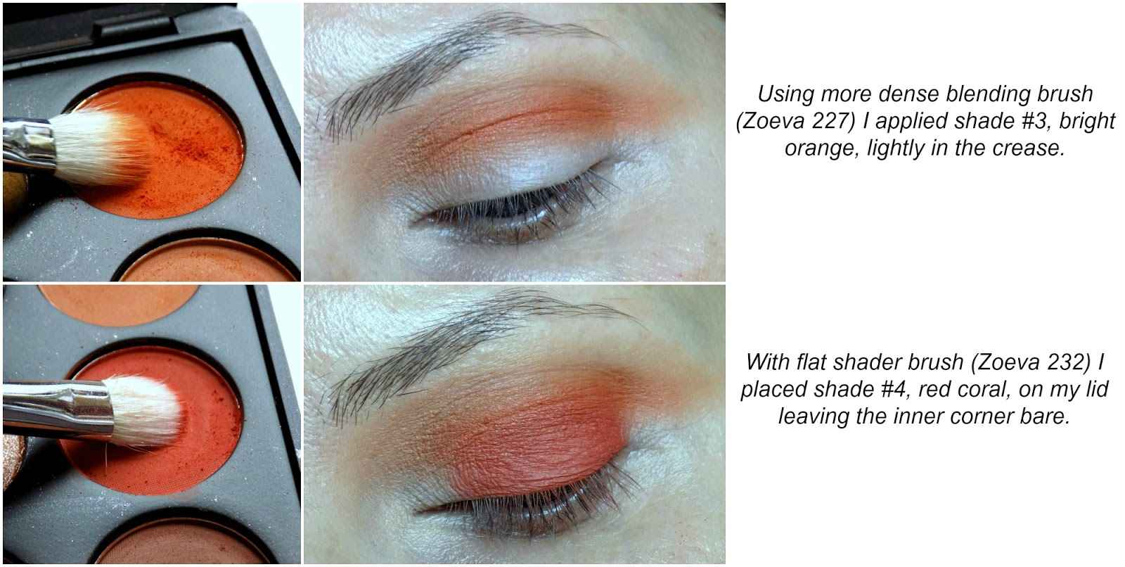peach-y coral eye look tutorial, feat. Morphe Brushes 35O palette