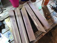 Red cedar strips
