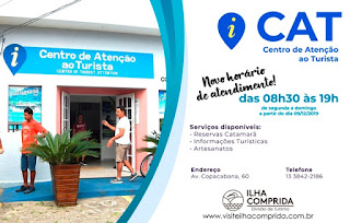 Centro de Atenção ao Turista da Ilha Comprida com novo horário de atendimento ao público