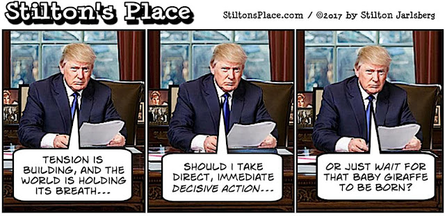stilton's place, stilton, political, humor, conservative, cartoons, jokes, hope n' change, trump, baby giraffe, north korea, russia, syria