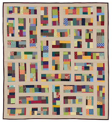 Detour quilt from Stash Statement quilting book by Kelly Young