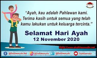 SELAMAT HARI AYAH NASIONAL TAHUN 2020