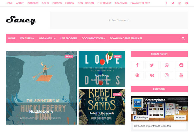 Sancy Blogger Template
