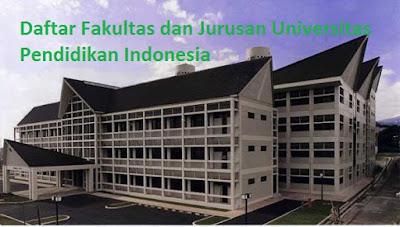 Daftar fakultas, jurusan dan program studi untuk diploma, doktor ,magister, sarjana UPI Universitas Pendidikan Indonesia Lengkap Terbaru