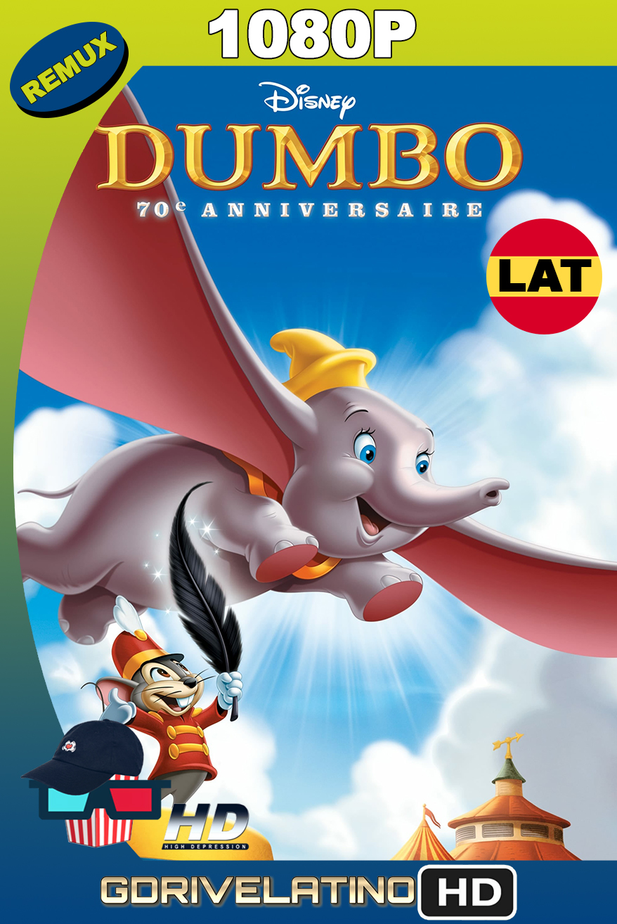 Dumbo (1941) Edition 70th Anniversary BDRemux 1080p Latino-Ingles MKV