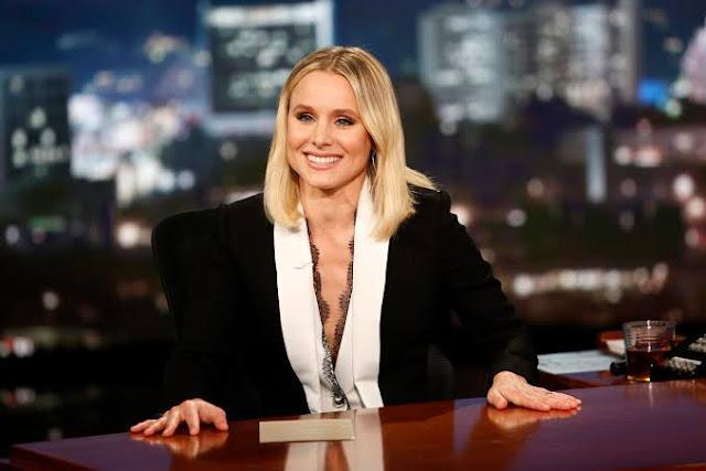 Kristen bell no programa Jimmy Kimmel Live/ABC/Reprodução