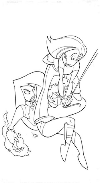 Fun Coloring Pages: Kim Possible Coloring Pages
