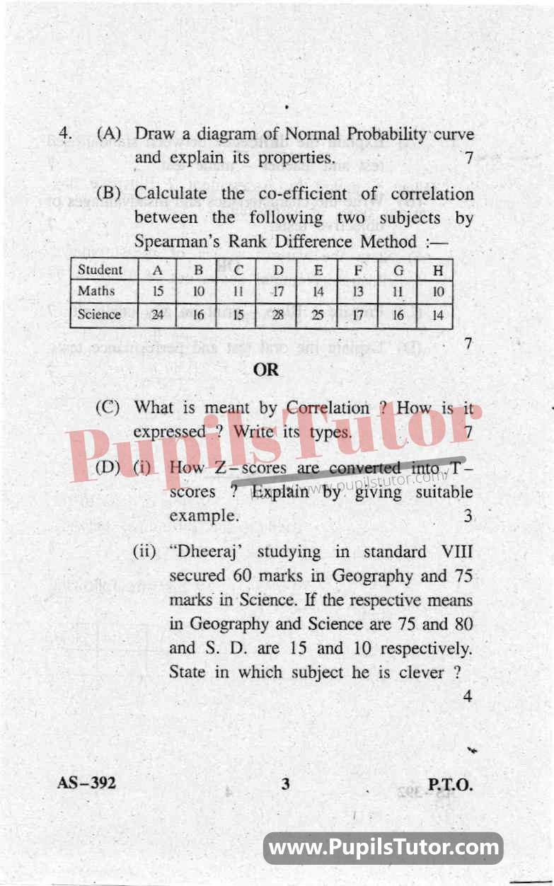 Assessment For Learning Question Paper In English
