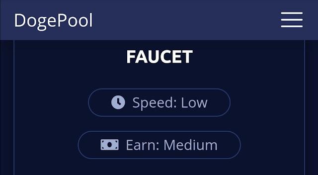 Dogepool website থেকে Faucet Claim করে Dogecoin ইনকাম করুন