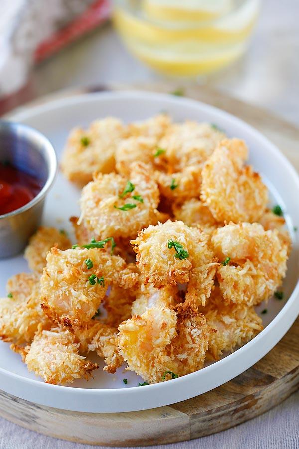 Best Parmesan Baked Popcorn Shrimp Recipe