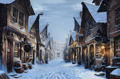 Diagon Alley innevata