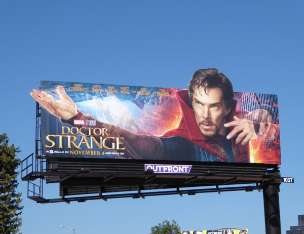 Doctor Strange special cut-out billboard