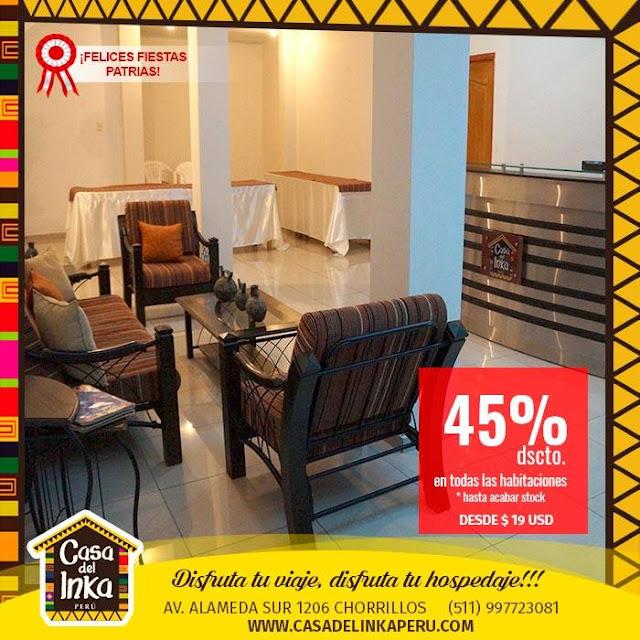 Alojamiento Hotel en Chorrillos Lima Peru