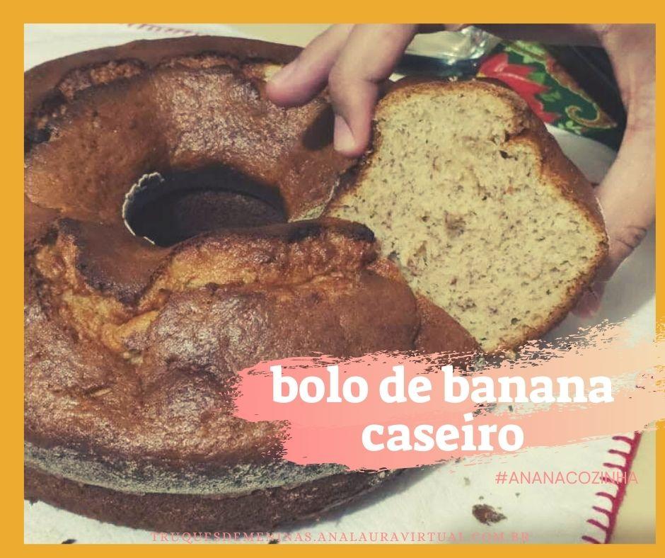 bolo de banana caseiro