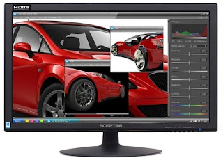 Sceptre E248W-19203R 24 Ultra Thin 75Hz 1080p LED Monitor