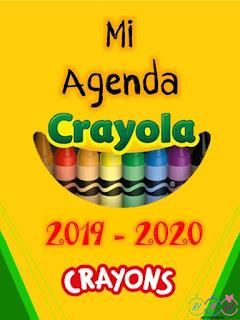 Agenda Escolar Crayola editable