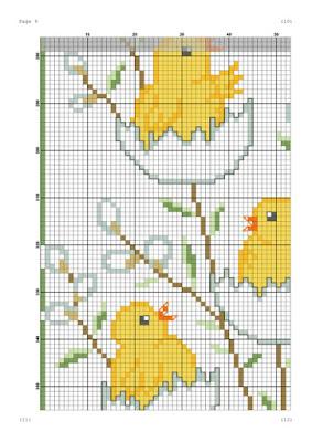 schema punto croce pasqua