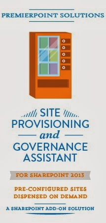 Site provisioning and governance assistant vending machine.  Enterprise read self-service site creation.