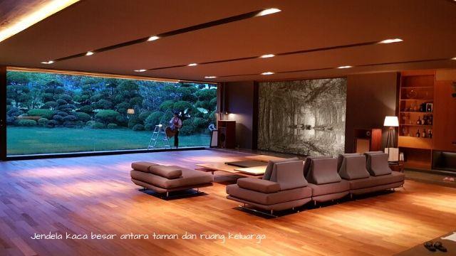 ruang keluarga modern minimalis syuting film parasite