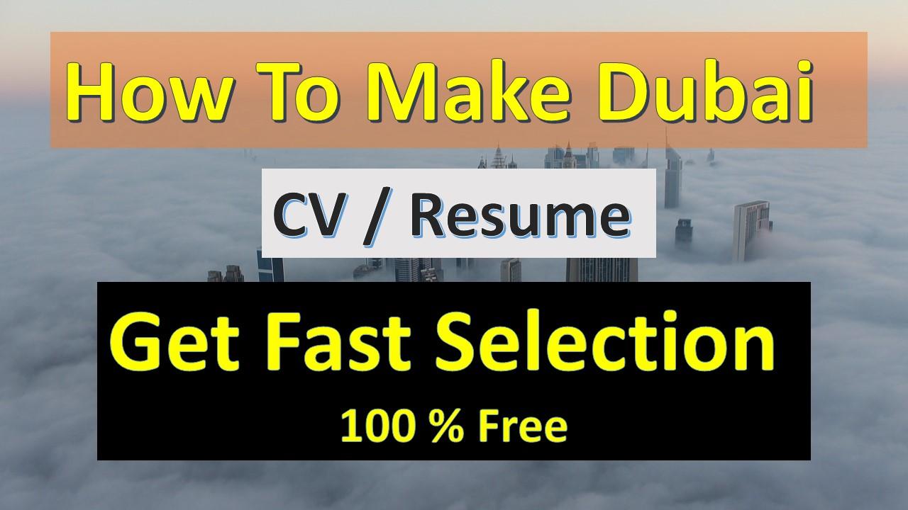 How To Make A Resume Dubai Cv Sample Dubai Cv Format