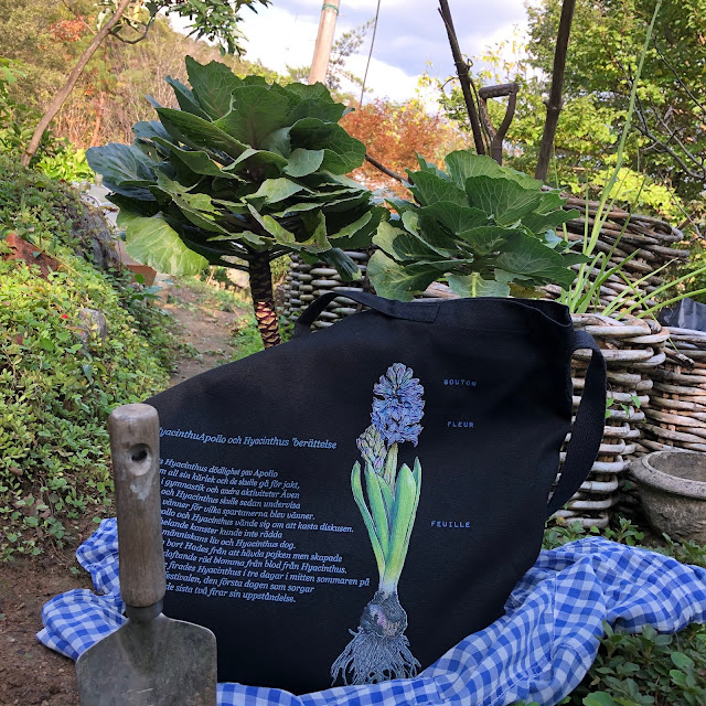 Hyacinth canvas bag large size. black. Great for my bag or for putting harvested products. you can use it as also a shoulder bag.