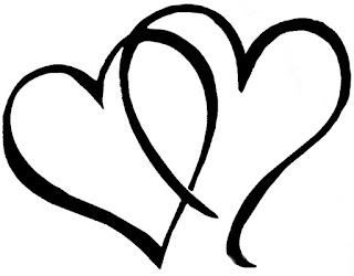 דפי צביעה לבבות