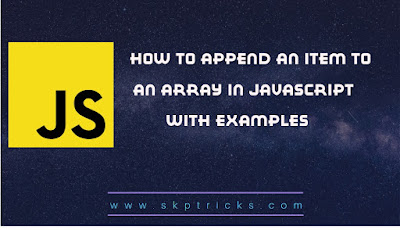 How to append an item to an array in JavaScript
