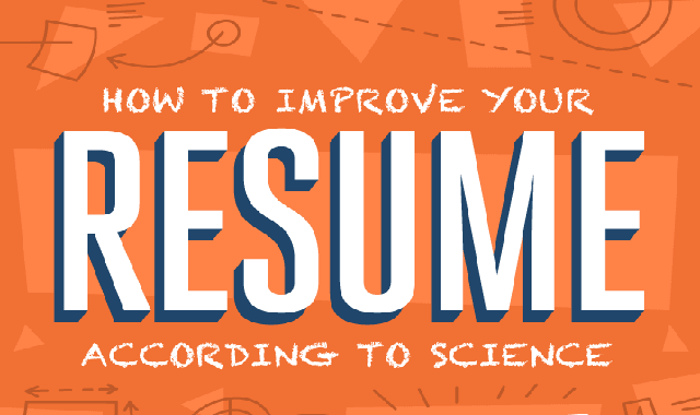 How to Improve Your Resume According to Science #infographic