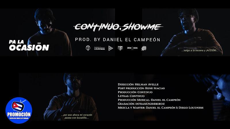 Continuo - ¨Pa la ocasión¨ - Videoclip - Director: Helman Avelle. Portal Del Vídeo Clip Cubano. Música cubana. Cuba.