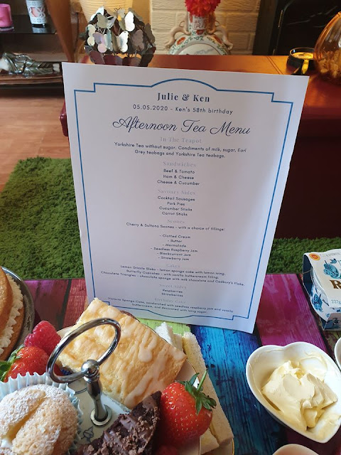 DIY afternoon tea menu