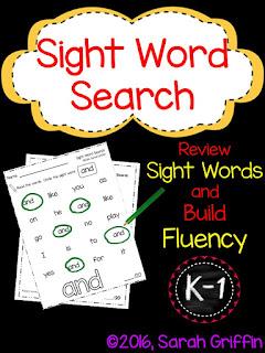 https://www.teacherspayteachers.com/Product/Sight-Word-Search-K-1-1710878