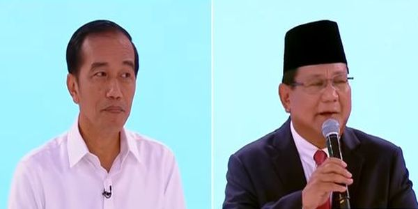 photo of the presidential debate jokowi prabowo