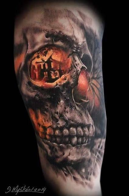 15 Imagens 218 Nicas De Caveiras Em Tatuagens 3d Skull Tattoos