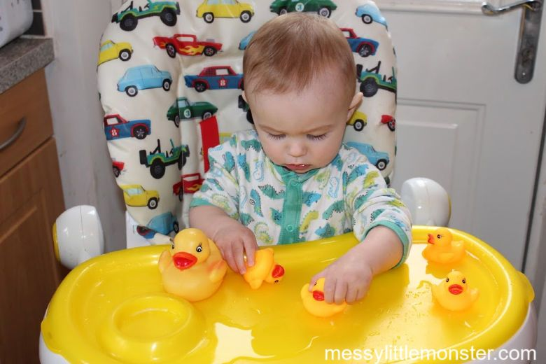 activities for babies - 5 little ducks water play