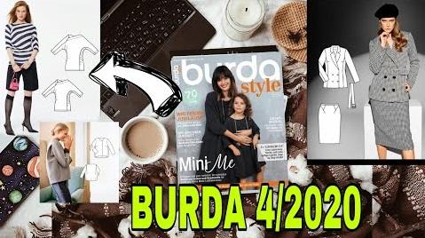 BURDA NİSAN 2020 TEKNİK ÇİZİMLER ✂️ BURDA 4/2020 LINE DRAWINGS PREVIEW