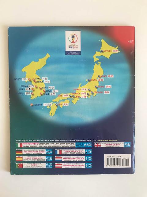 Quarta di Copertina Album Panini Korea Giappone 2002