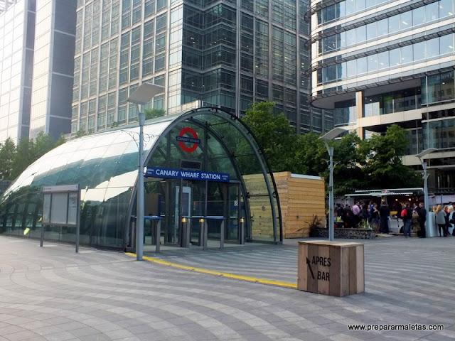 metro de Canary Wharf, jubilie line
