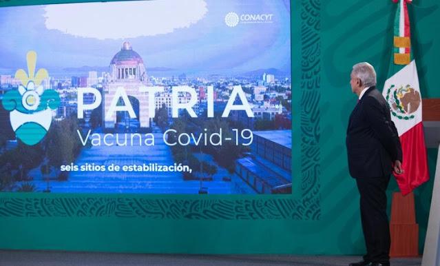 Avanza desarrollo de la vacuna mexicana 'Patria' contra COVID-19