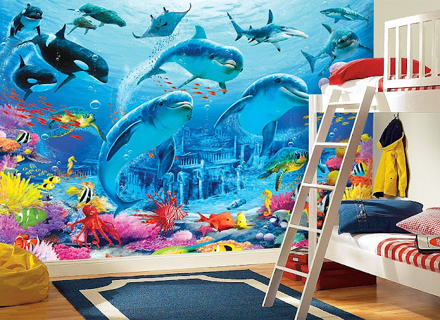 Dolphin Wall Mural Kids Room