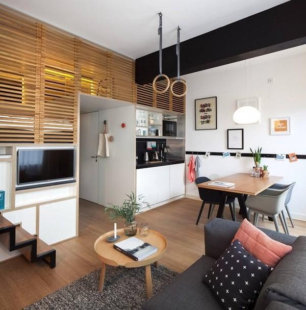 không gian chung của căn hộ 25 m2