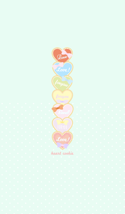 Heart cookie pastel