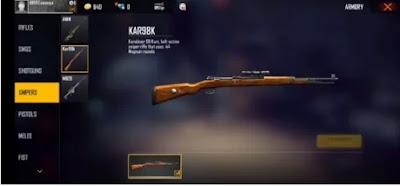 #3 سلاح فري فاير  Kar98K