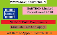 HARTRON Limited Recruitment 2018– 35 Programmer