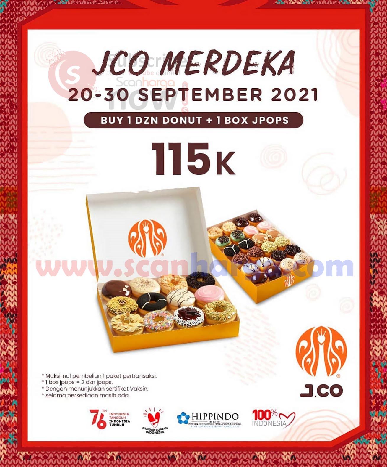 JCO Promo Paket 1 Dozen Donuts + 1 Box JPOPS Hanya Rp. 115.000 aja